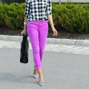 J. Crew Purple / Lavender Toothpick Ankle Jeans